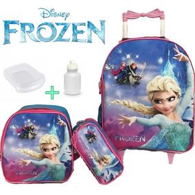 Kit Mochila Infantil Frozen Congelante Rodinha Promoção 2019
