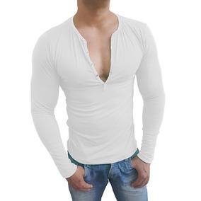 Lojas Renner Masculino Camiseta Branca Botão - Calçados cbab2543d8e26