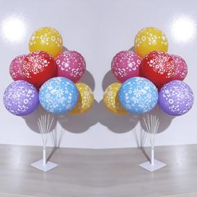 Suporte De Bexiga Vareta Pega Balão 9 Hastes Imita Gas Helio