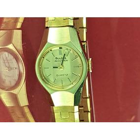 Relógio Bulova Accutron Novo, (fab.1977), Banhado A Ouro.