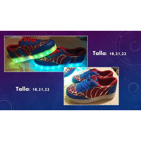 Tenis Spiderman Con Luz