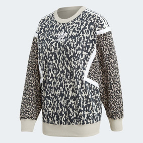 ba00e1678423d Sudadera adidas Originals Mujer Animal Print Lf Crew Moda
