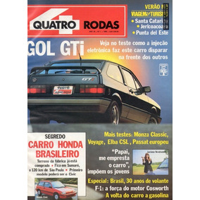Quatro Rodas Nº342 Gol Gti Monza Classic Elba Csl Voyage Gl