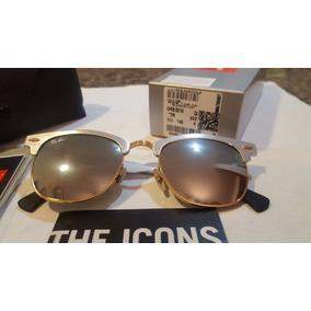 bb45a5190 Ray Ban Clubmaster Aluminium Rb3507 Prata Espelhado - Óculos no ...