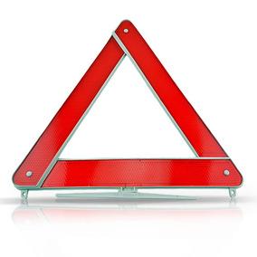 Triangulo Segurança Sinalização Carro Universal Base Branca