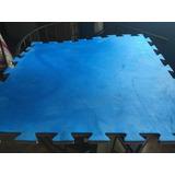 Tatame Tapete 1x1 20mm Azul Vermelho