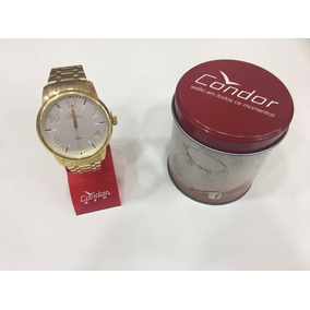 Relógio De Pulso Condor Unissex Dourado   Co2035kqn/4k