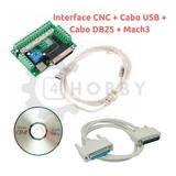 Placa Controle Cnc 5 Eixos+cabo Usb+cabo Db25+mach3*129901