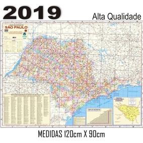 Mapa Estado Sao Paulo 120cm X 90cm 2019