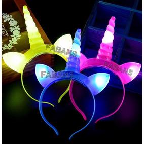 Cintillo Unicornio Con Luz Led Hora Loca Fiesta Decoracion