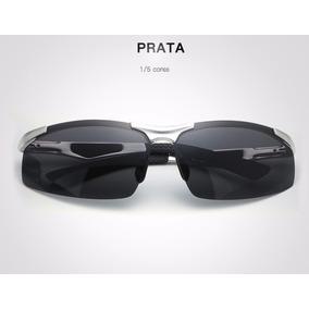 Óculos De Sol Masculino Hd Crafter Prata Super Promoção Novo 3a75d254ca