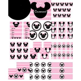 Kit Imprimible De Minnie Mouse Para Fiesta Cumpleaños