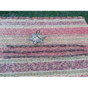 Antigua Roseta Floron Bronce Con 3 Cadenas P Araña