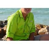 Camisa Juvenil Protección Uv Pesca Slippery® 14-16/18-20