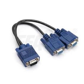 Cabo Vga Y P/ Ligar 1 Pc Em 2 Monitores - 1 Vga M P/ 2 Vga F