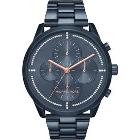 807286bc838 Relogio Michael Kors Branco Cronografo Oversized Mk 5379 - Joias e ...