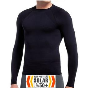 Comprando 3 Frete Grátis Camisa Térmica Proteção Solar Uv50+