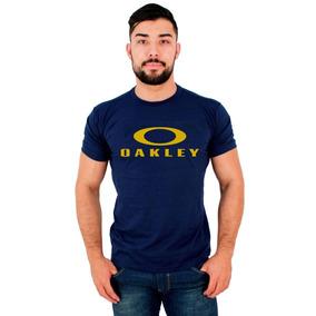 Camiseta Amarela Oakley - Calçados, Roupas e Bolsas Azul marinho no ... 52a6911bd5