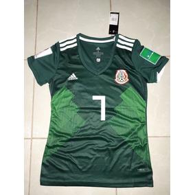 Playera Jersey De Mexico #7 Layun Para Dama