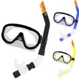ff218bfd2603b Mascara Mergulho Kit Oculos E Snorkel Com Valvula Albatroz