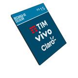 Recarga Celular Crédito Online Tim Claro Vivo R$ 15,00