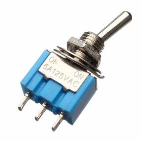Mini Chave - On / Off / On - 3 Terminais - Azul