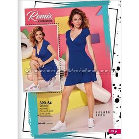 Vestido Cklass Azul 390-54. Outlet/saldos Mchn