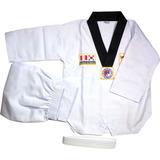 Tae Kwno Do Tkd Uniforme Completo 3 Piezas Color Blanco