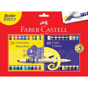 Canetinha Faber Castell Bicolor 48 Cores