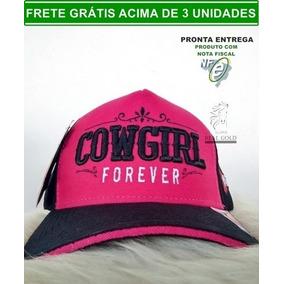 Boné Trucker Feminino Cowgirl Forever Rosa Caipira Oferta 6138e5836010c
