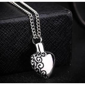 Collar Corazón Conmemorativo Cenizas Cremación C/cadena