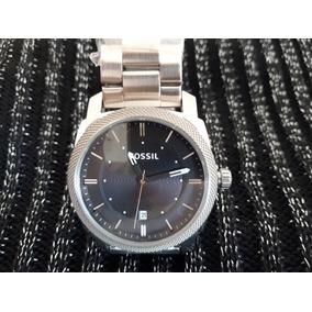 Relógio Original Fossil Prata Aro Estriado