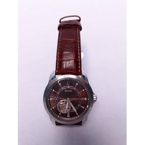 Reloj Bulova Automatico Piel Cafe Hombre Ce860929
