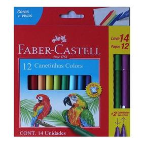 Canetinhas Marcadores Faber Castell Leve 14 Pague 12