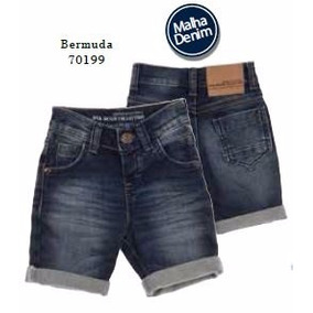 Bermuda Jeans Infantil Menino - 70199 Mk