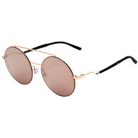 041937e51253b Hickmann Hi 3073 - Óculos De Sol 04d Dourado Brilho  Dourado