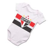 Body Infantil Bebê São Paulo Spfc Bori Tricolor Roupa B029br 6b7e89b91f2