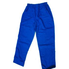 Kit C/7 Calças Azul Em Brim Pesado Saldado E Mecânico