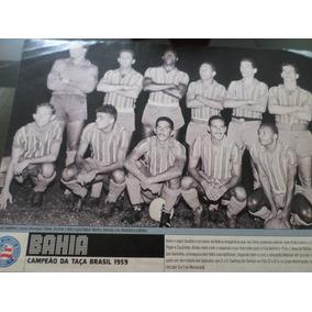 Poster Placar Bahia Campeão Taça Brasil 1959 21x27cm