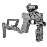 Stock Coronha Retrátil Pistola Glock Tiro Esportivo Airsoft