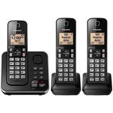 Telefone Sem Fio Panasonic Kx-tg633sk Link2cell 3 Ramais