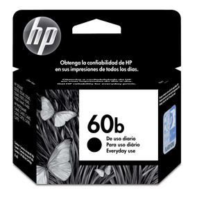 Cartucho De Tinta Hp Everyday 60b Cc636wb Preto Original