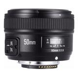 Lente Yongnuo Nikon 50mm Gran Apertura 1.8 D5300 D3400 Mf