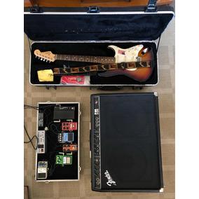 Guitara Fender American Standard + Pedais +amplificador Fend