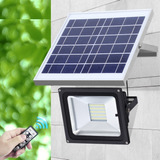 Reflector Con Panel Solar Waterproof Recargable 42 Leds 20w