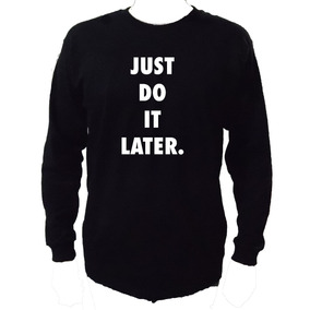 Playera Just Do It Later Manga L, -envio Gratis Nike