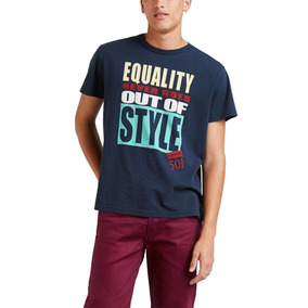 Camiseta Levis Masc Equality Never Goes Out Of Style Azul