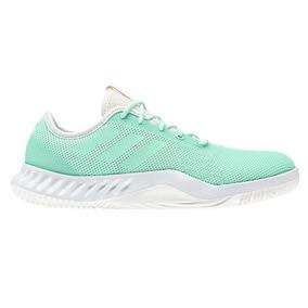 pretty nice 6869a 1f7a0 Tenis Verde Agua adidas Crazy Train Para Mujer Running