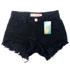 6 Shorts Jeans Feminina Cintura Alta Hot Pant Anita Atacado