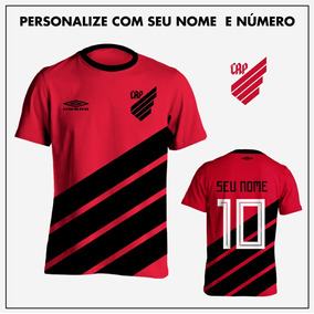 Kit 2 Camisas Atlético Paranaense 2019 Vermelha Personalizad